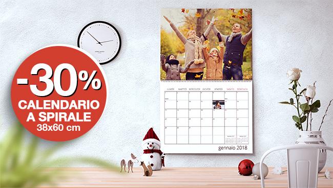 Promo -30% su calendari da muro 38x60
